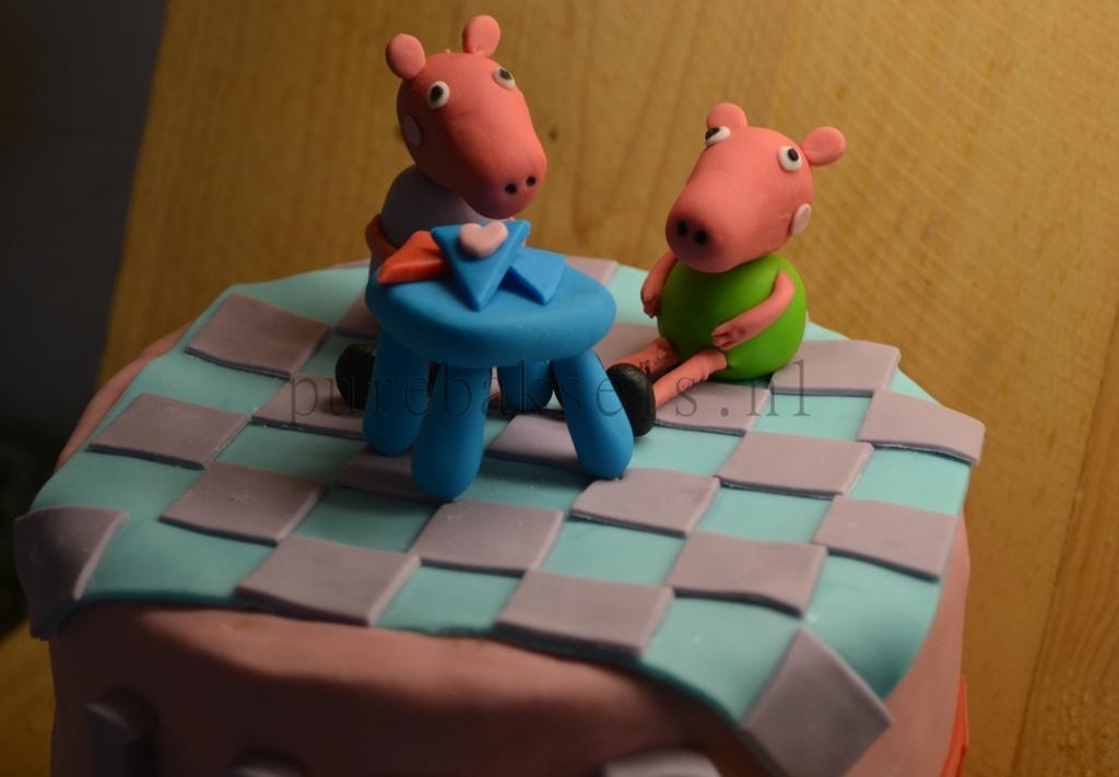 Peppa pig taart (4)