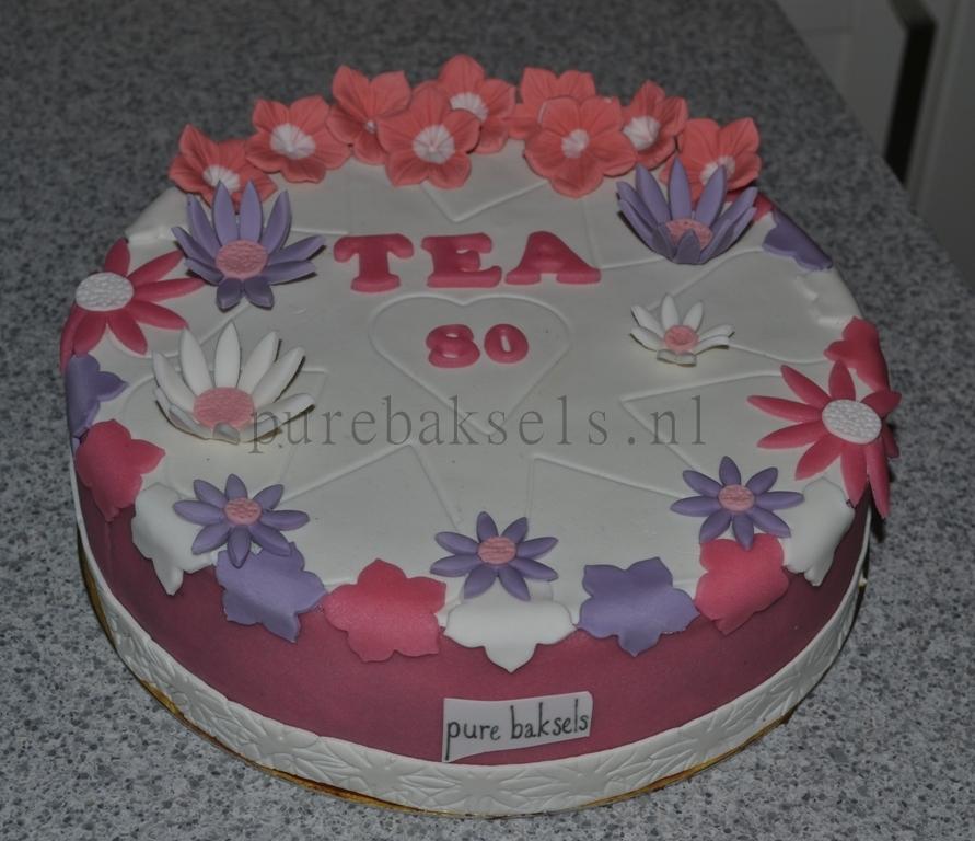 Bloemen taart (3)