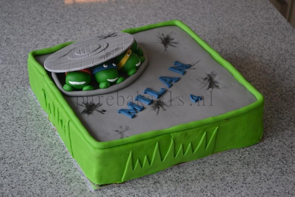 Ninja turtel taart (3)